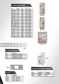 Earth Leakage Units, MCB Circuit Breaker Accessories
